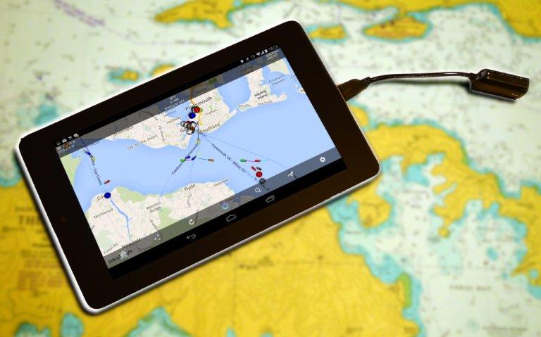 Tablet con Boat Beacon