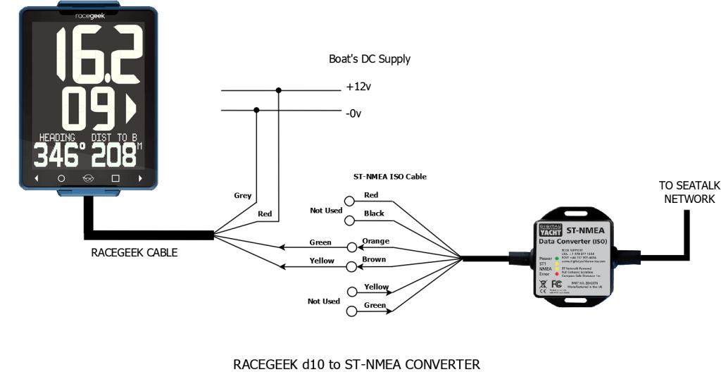 diagrama de convertidor SeaTalk a nmea a la d10