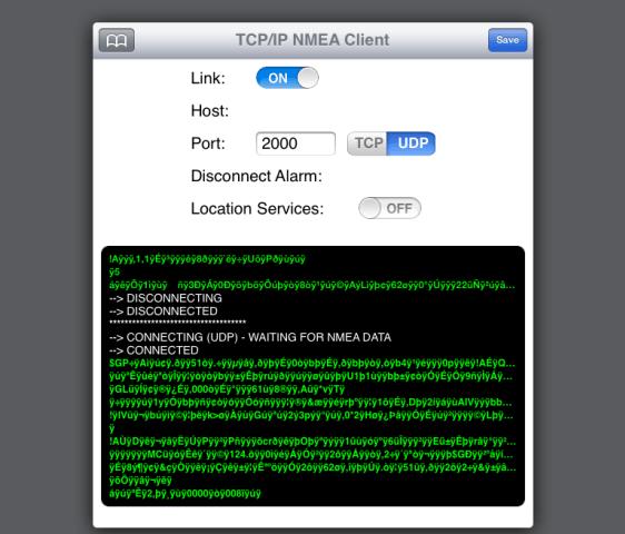 captura de pantalla datos nmea corrompidos