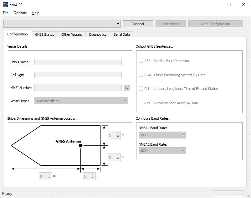 proAIS2 configuracion correcta en windows