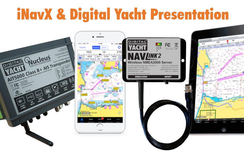 Aplicación iNavX con productos de Digital Yacht