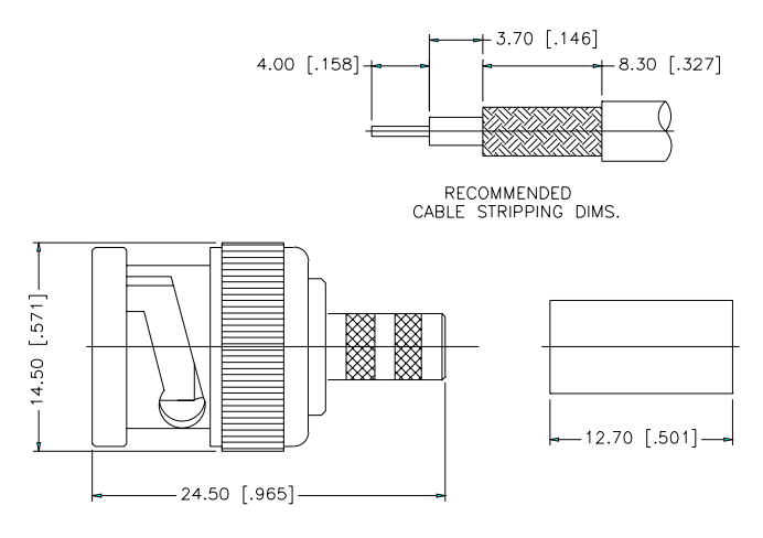 cable coaxial medidas